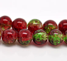 Load image into Gallery viewer, Beads Glass Strand 10mm Crackle  15.5""