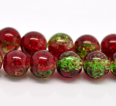 Beads Glass Strand 10mm Crackle  15.5