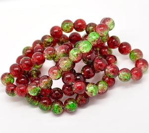 Beads Glass Strand 10mm Crackle  15.5""