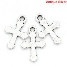 Load image into Gallery viewer, Charms Cross Silver 19x13mm 100pcs