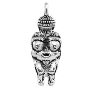 AVBeads Pagan Charms Goddess Fertility Charms Silver 33mm x 12mm Metal Charms 2pcs