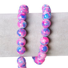 Load image into Gallery viewer, Beads Glass Strand 10mm Floral  16""