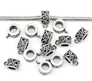 AVBeads Beads Metal Bails Heart 12mm x 9mm BMB08430 10pcs