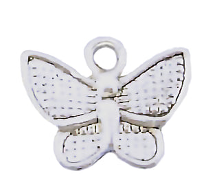 AVBeads Animals Bugs Nature Butterfly Insect Silver 10mm x 13mm Zinc Alloy Metal Charms 10pcs