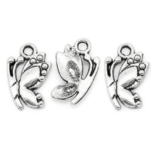 Load image into Gallery viewer, AVBeads Nature Charms Butterfly Silver 17mm x 11mm Metal Charms 10pcs