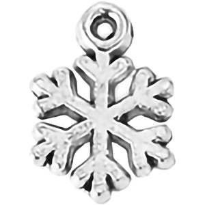 AVBeads Fall Seasonal Christmas Yule Holiday Snowflake Silver 15mm Metal Charms Pendants 2pcs