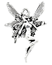 Load image into Gallery viewer, AVBeads Celtic Fairy Charms Nymph Silver 21mm x 15mm Metal Charms 4pcs