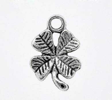 AVBeads Nature Celtic Luck Clover Silver 15mm x 11mm Metal Charms 10pcs
