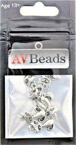 AVBeads Animal Cat Charms Silver 17mm x 8mm Metal Charms 10pcs
