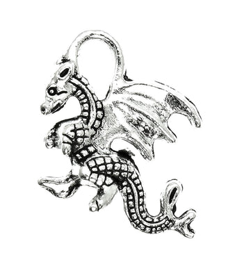 AVBeads Celtic Dragon Charms Silver 21mm x 14mm Metal Charms 4pcs