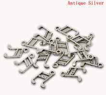 Load image into Gallery viewer, AVBeads Bulk Charms Music Charms 14mm x 10mm Silver Metal Charms 100pcs