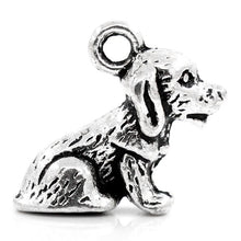 Load image into Gallery viewer, AVBeads Animal Dog Charms Silver 16mm x 14mm Metal Charms 4pcs