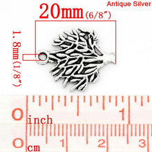 Load image into Gallery viewer, AVBeads Nature Tree Charms Silver 20mm x 16mm Metal Charms 10pcs