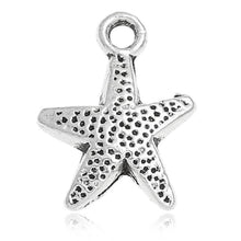 Load image into Gallery viewer, AVBeads Beach Charms Star Fish Silver 16mm x 12mm Metal Charms 4pcs