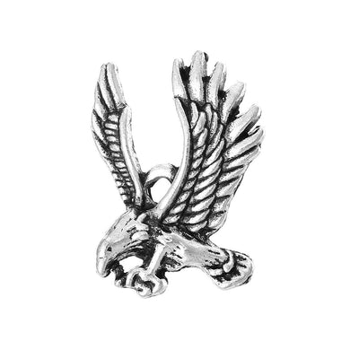 AVBeads Animal Charms Eagle Bird Silver 27mm x 19mm Metal Charms 4pcs