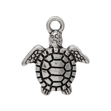 Load image into Gallery viewer, AVBeads Beach Charms Turtle Charms Silver 16mm x 14mm Metal Charms 4pcs
