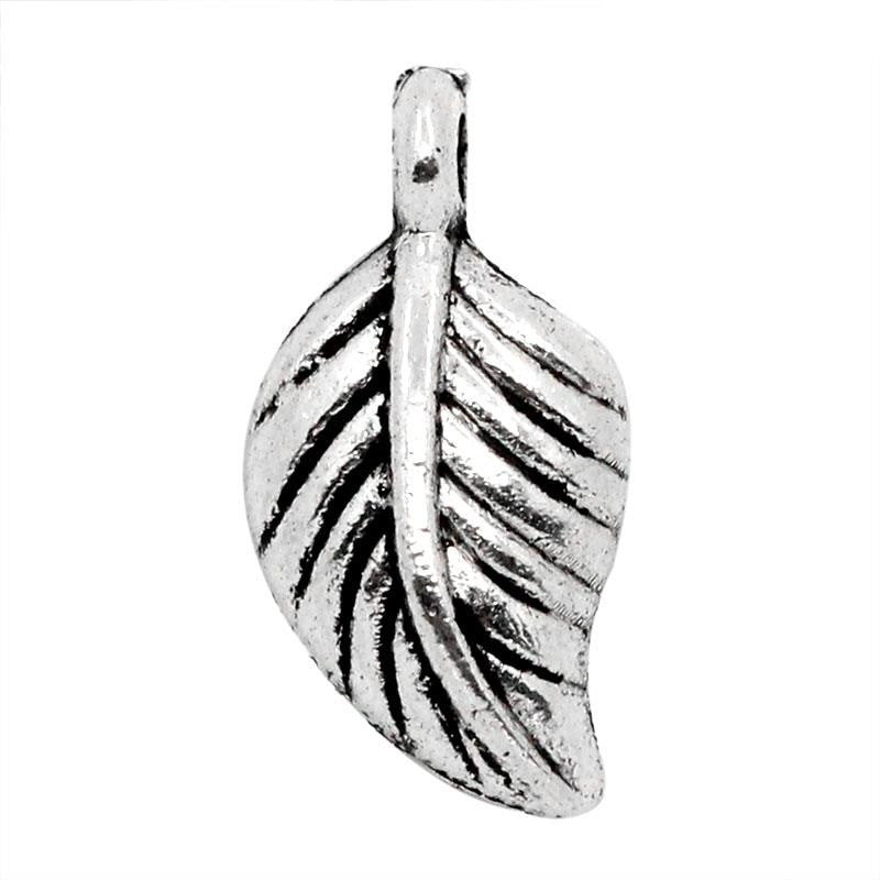 AVBeads Leaf Charms 15mm x 7mm Silver CHM23829 200pcs