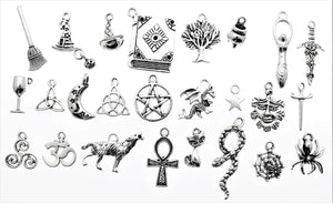 AVBeads Pagan Charms Mixed Charms Silver Metal Alloy 1253 50pcs