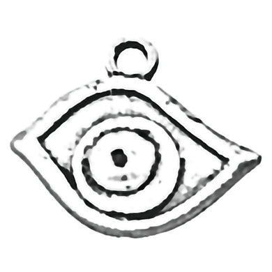 AVBeads Wicca Charms Eye Silver 19mm x 16mm Metal Charms 4pcs
