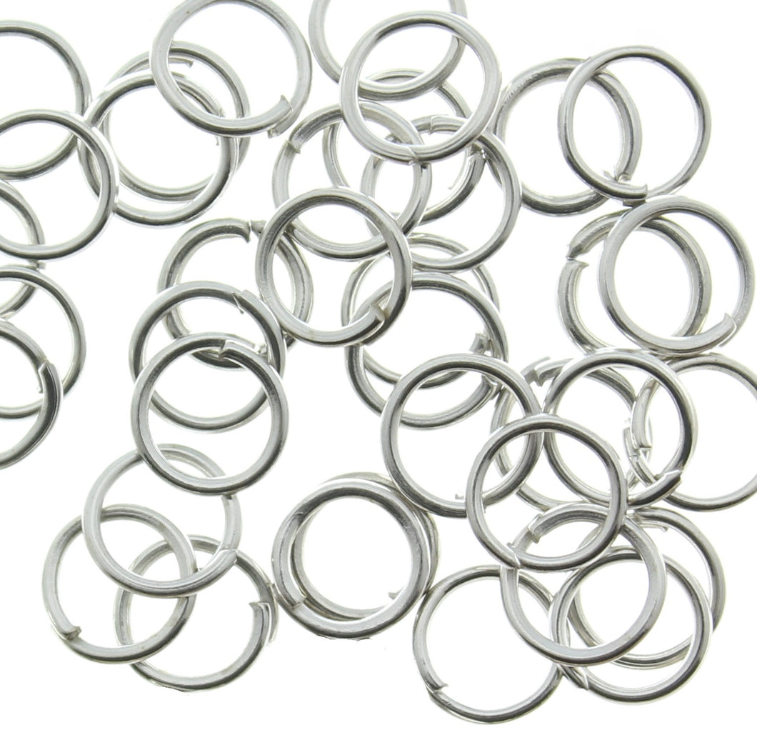 AVBeads Components Metal Jump Rings 4mm Silver Plated ( approx 80pcs )