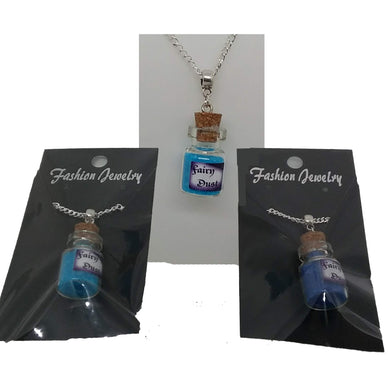 AVBeads Jewelry Fairy Necklace with Glass Bottle Charm on 24