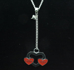 "AVBeads Heart Pendant on 24"" Y Chain Necklace JWL-NLH24-LoveYou"