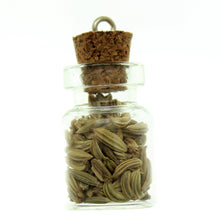 Load image into Gallery viewer, Bottle Charms with Bail Herbs in 22x15mm Glass Bottle