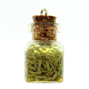 Bottle Charms with Hang Hole Herbs and Oil in 22x15mm Glass Bottle