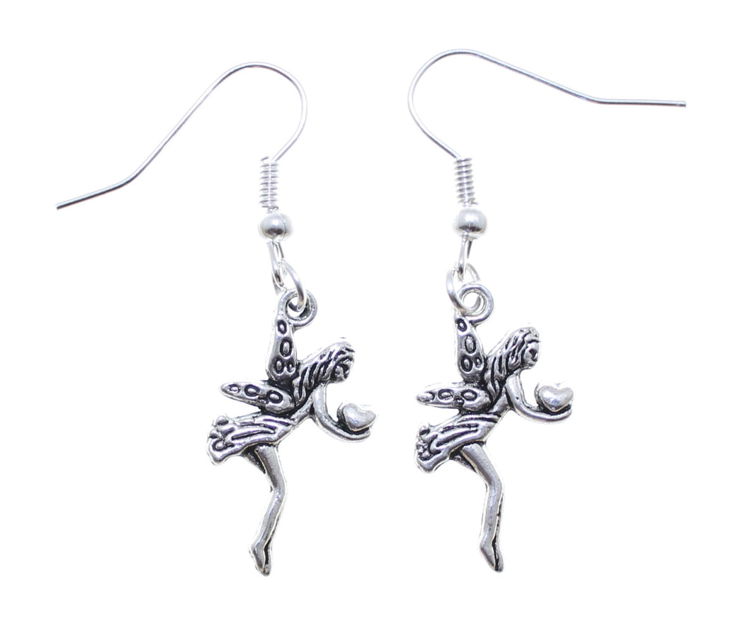 AVBeads Jewelry Charm Earrings Dangle Silver Hook Fairy Gift
