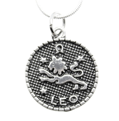 AVBeads Pagan Wiccan Astrological Zodiac Charm Pendant Necklace Jewelry Leo