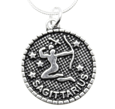 Jewelry Zodiac Necklace Sagittarius Charm