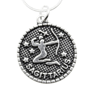 AVBeads Pagan Wiccan Astrological Zodiac Charm Pendant Necklace Jewelry Sagittarius