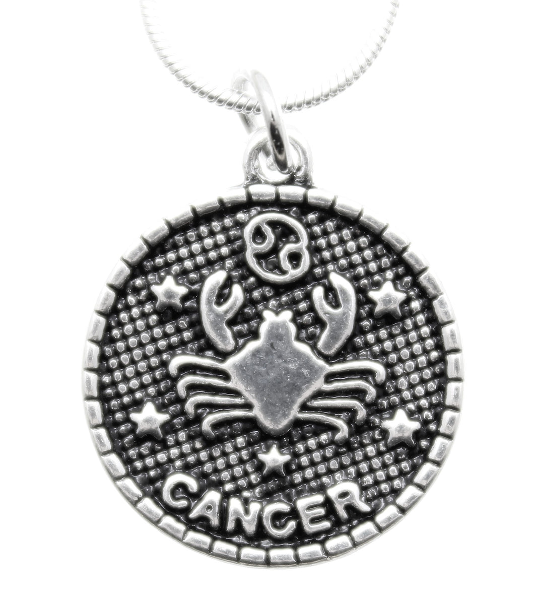 AVBeads Pagan Wiccan Astrological Zodiac Charm Pendant Necklace Jewelry Cancer