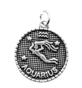 Add a Charm - Metal Charms - Zodiac - Aquarius