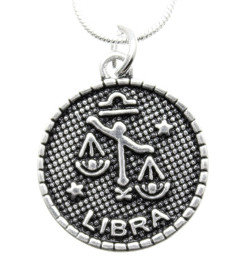 Jewelry Zodiac Necklace Libra Charm