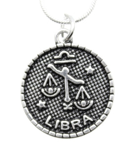 AVBeads Pagan Wiccan Astrological Zodiac Charm Pendant Necklace Jewelry Libra