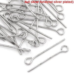 AVBeads Components Eye Pins 20mm 30pcs 21 gauge