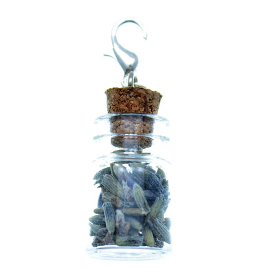 Clip-On Bottle Charms with Herbs Lavender Flowers - Free Shipping