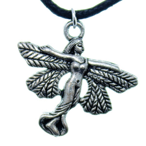 Charm Necklace Black Silver JWL-NLC-CHM23830 Fairy