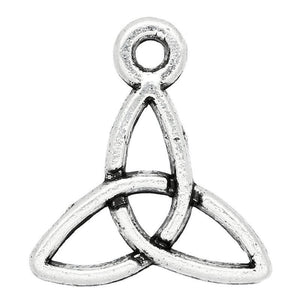 AVBeads Celtic Charms Triquetra Mini Silver 14mm x 13mm Metal Charms 10pcs