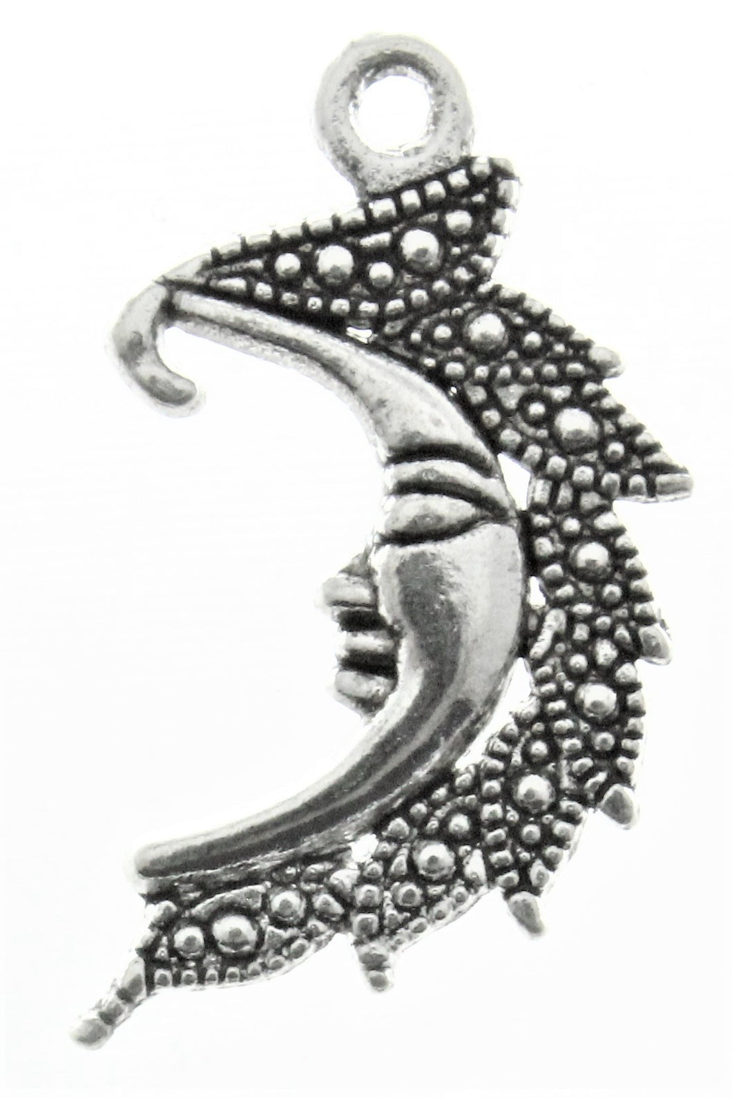 AVBeads Celestial Moon Charms Silver 25mm x 15mm Metal Charms 100pcs