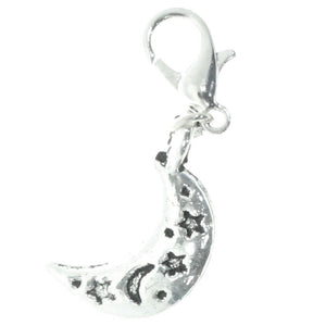 AVBeads Clip-On Charms Moon and Stars Charms Silver JWLCC30777