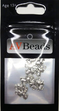 Load image into Gallery viewer, AVBeads Animal Charms Mouse Charms Silver 12mm x 7mm Metal Charms 10pcs