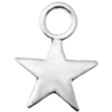 AVBeads Celestial Silver Star 11mm x 9mm Zinc Alloy Metal Charms 50pcs