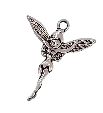 AVBeads Bulk Charms Large Fairy TBell Silver  29mm x 24mm Metal Charms 100pcs