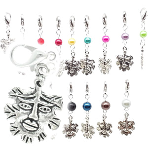 AVBeads Clip-On Charms Greenman Charm 35mm x 15mm Silver JWLCC32454