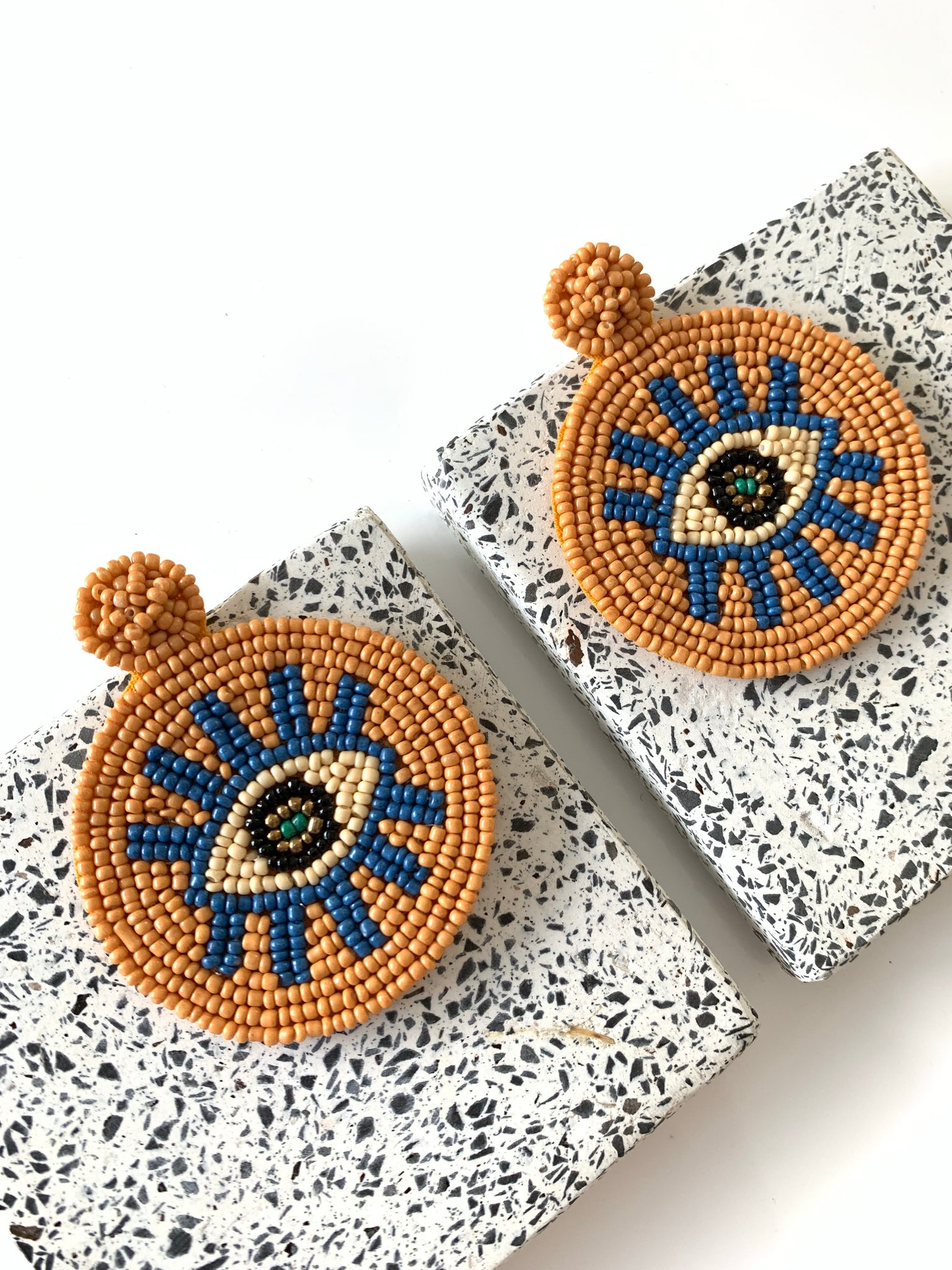 Beady-eyed earrings