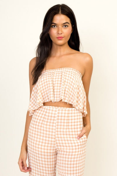 Georgia gingham crop top
