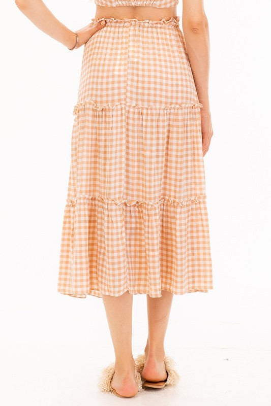Greg gingham skirt