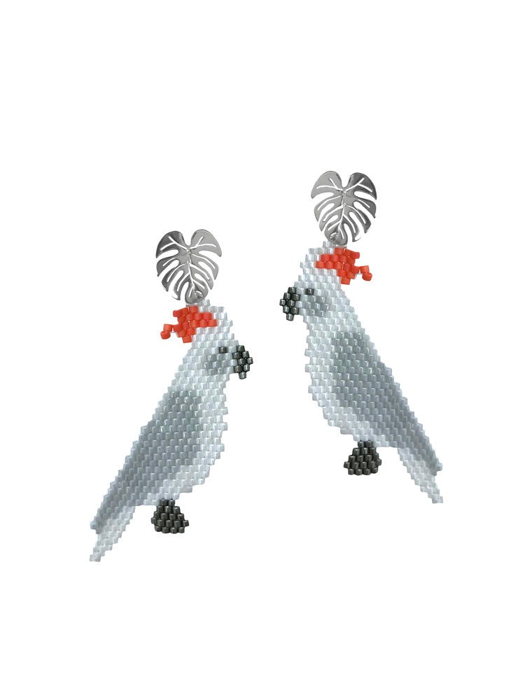 Cacatua earrings